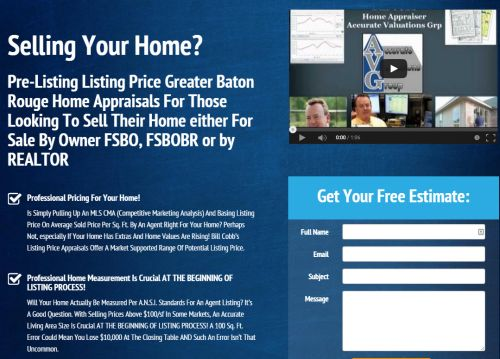 baton rouge list price home appraisals website