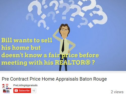 pre-contract price home appraisals baton rouge